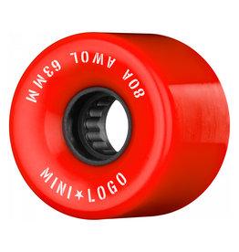Mini Logo A.W.O.L. 63mm 80A - Red