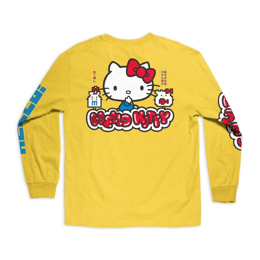 Girl Hello Kitty L/S Tee - Yellow