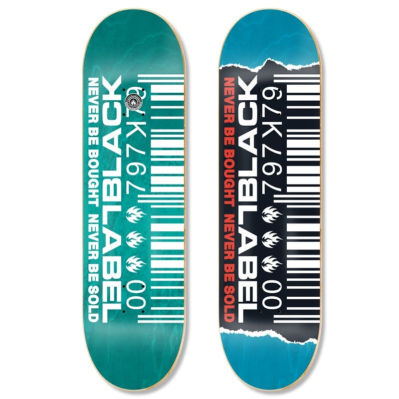 Black Label Ripped Barcode 8-1/2 inch wide