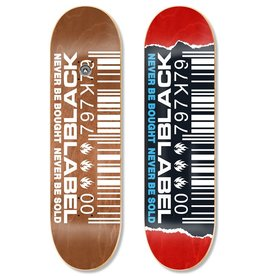 Black Label Ripped Barcode 8-7/8 inch wide
