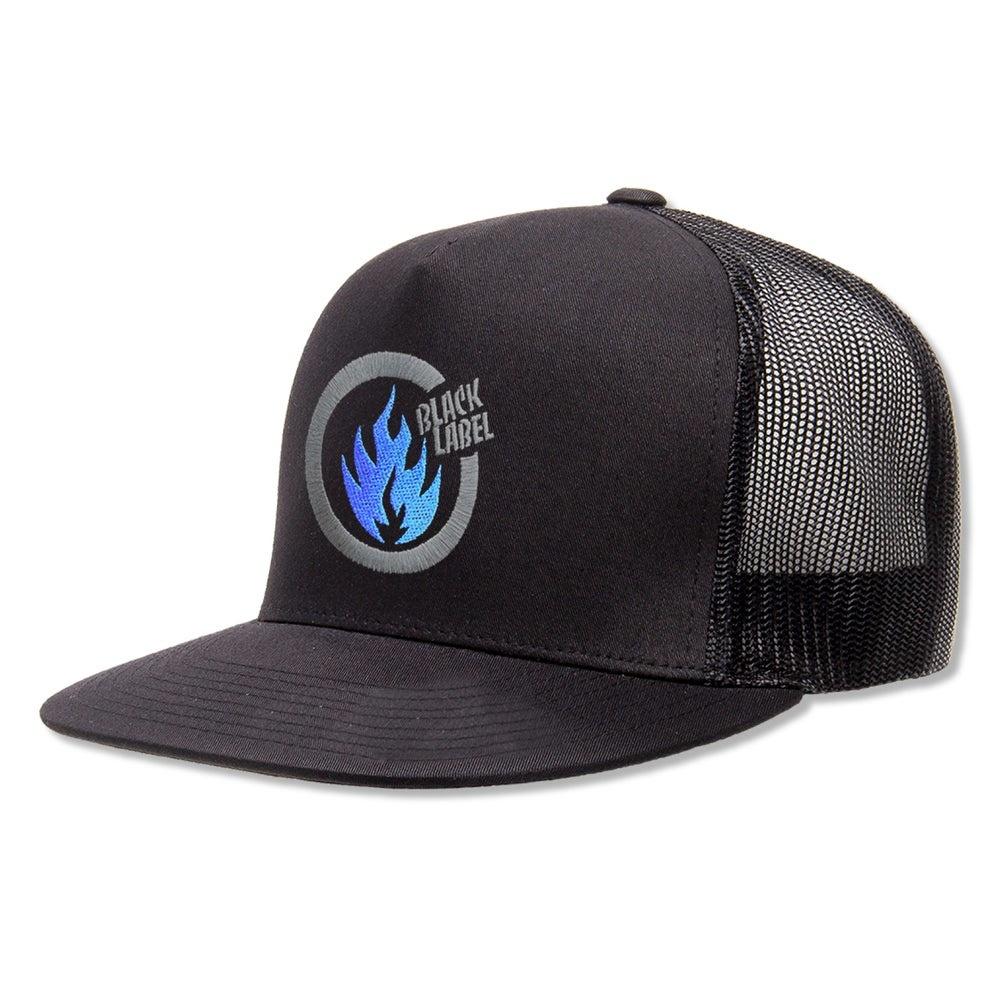 Black Label Thrash Flame Cap - Black