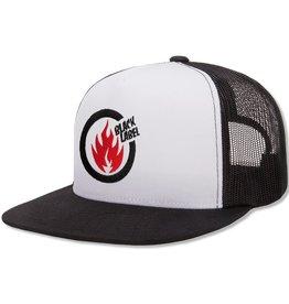 Black Label Thrash Flame Cap - White