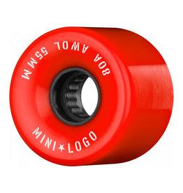 Mini Logo A.W.O.L. 55mm 80A - Red