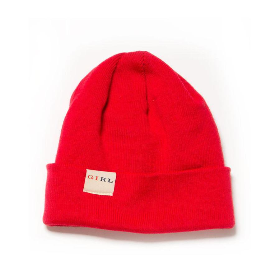 Girl Classic Fold Beanie - Red