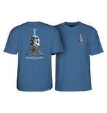 Powell Peralta Skull and Sword Tee - Slate Blue