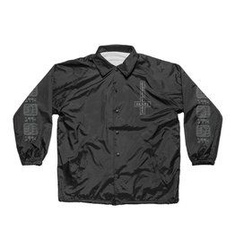 Chocolate Darkside Microchip Coach Jacket - Black