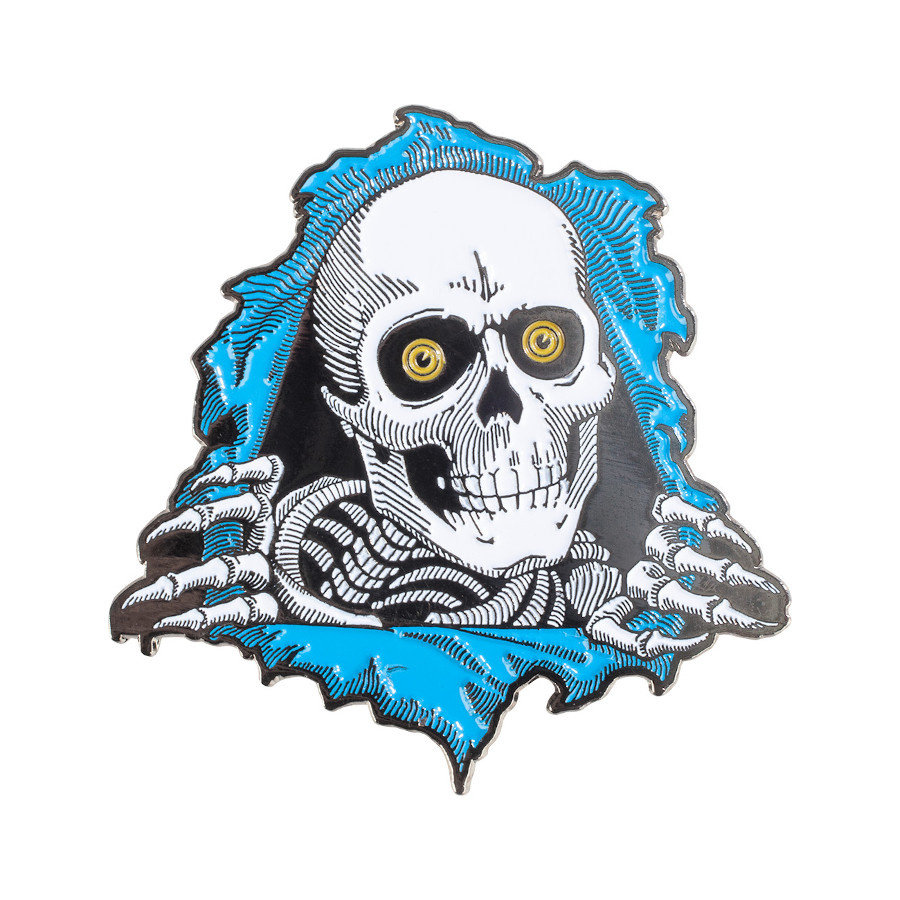 Powell Peralta Ripper Pin - Blue