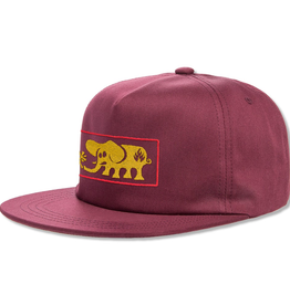 Black Label Elephant Frame Cap - Maroon