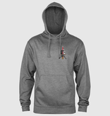 Powell Peralta Skull and Sword Hoodie - Gunmetal Heather