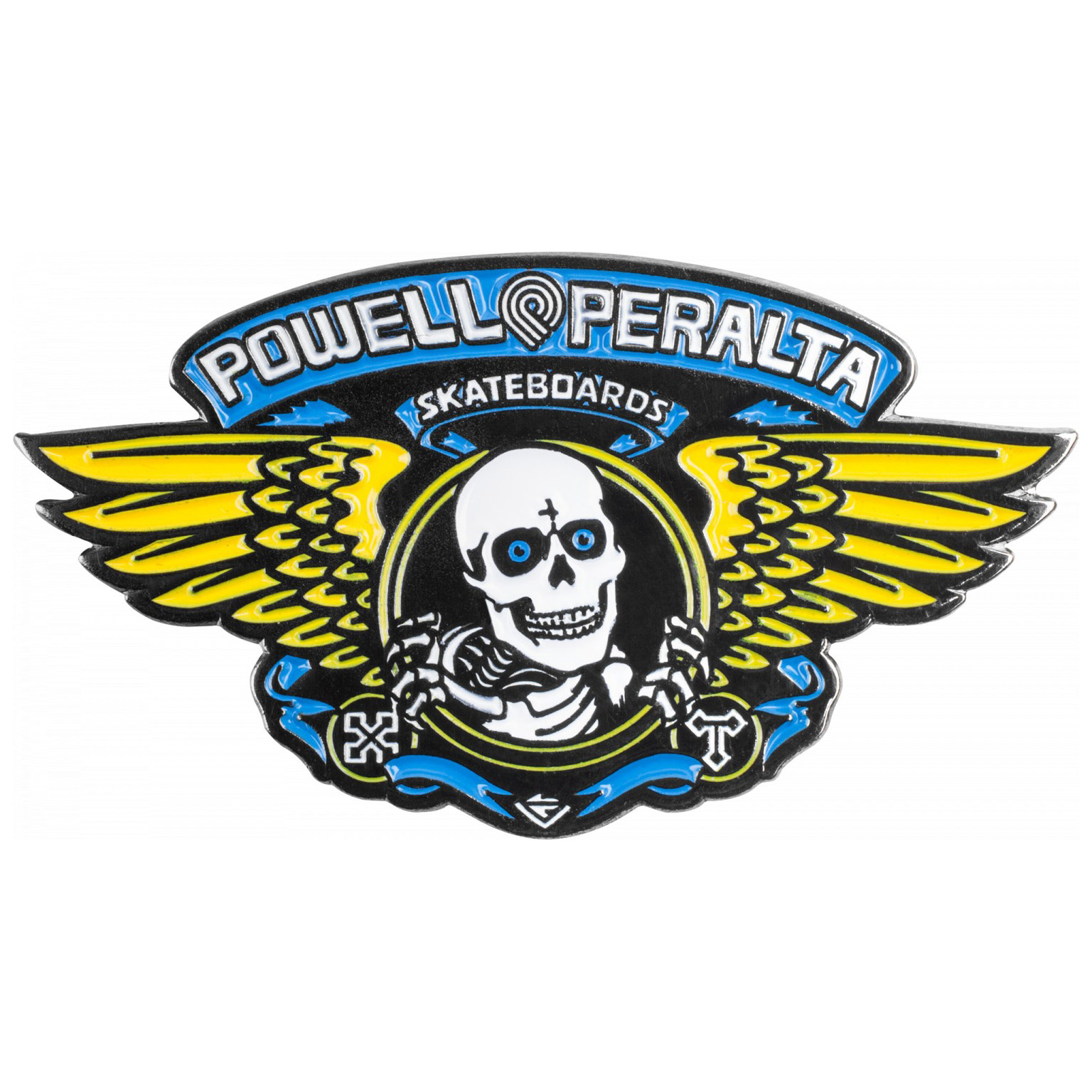 Powell Peralta Winged Ripper Pin - Blue