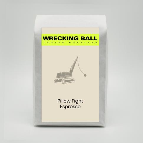Wrecking Ball Pillow Fight Espresso 12oz (340g)