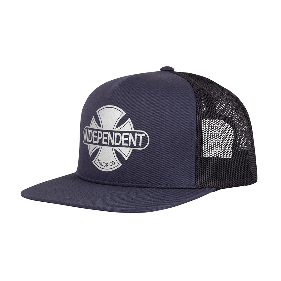 Independent Baseplate Mesh Trucker Cap - Navy/Silver