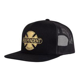 Independent Baseplate Mesh Trucker Cap - Black/Gold