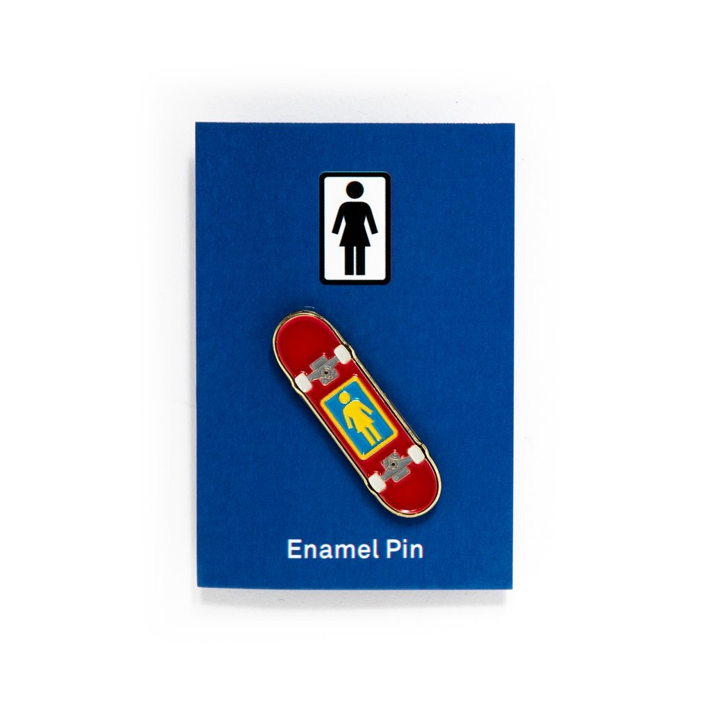 Girl Skateboard Enamel Pin