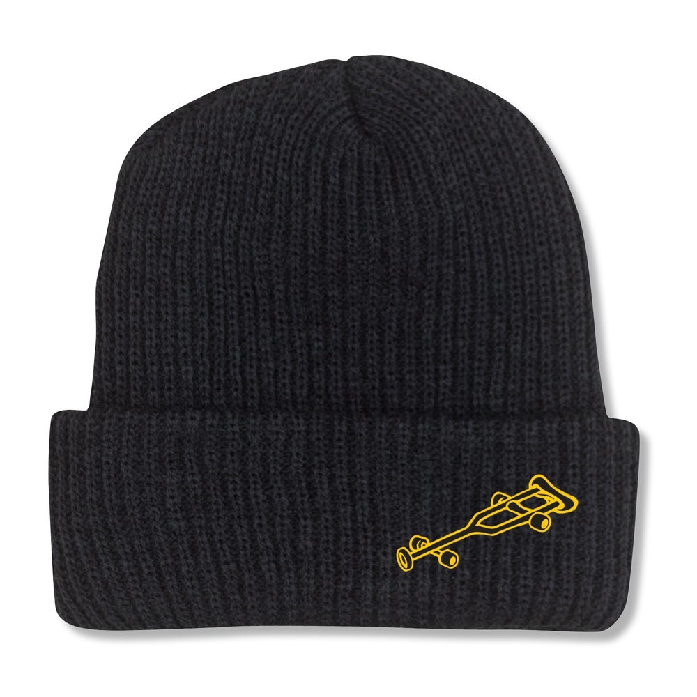 Black Label OG Crutch Beanie - Black