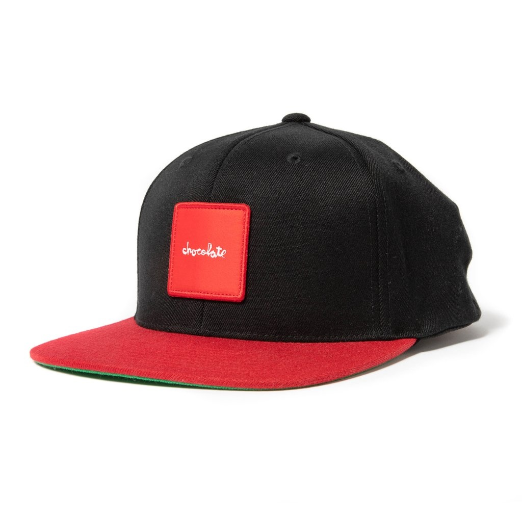 Chocolate Red Square Patch Hat