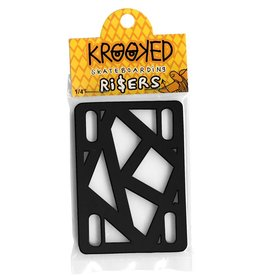 Krooked Risers 1/4 inch high (2-piece) black
