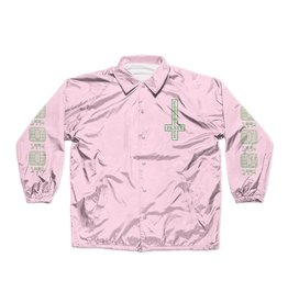 Chocolate Darkside Microchip Coach Jacket - Pink