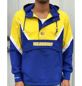 Mitchell & Ness GOLDEN STATE WARRIORS HALF ZIP ANORAK JACKET