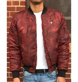 CULT OF INDIVIDUALITY BURGUNDY CAMO REVERSIBLR BOMBER