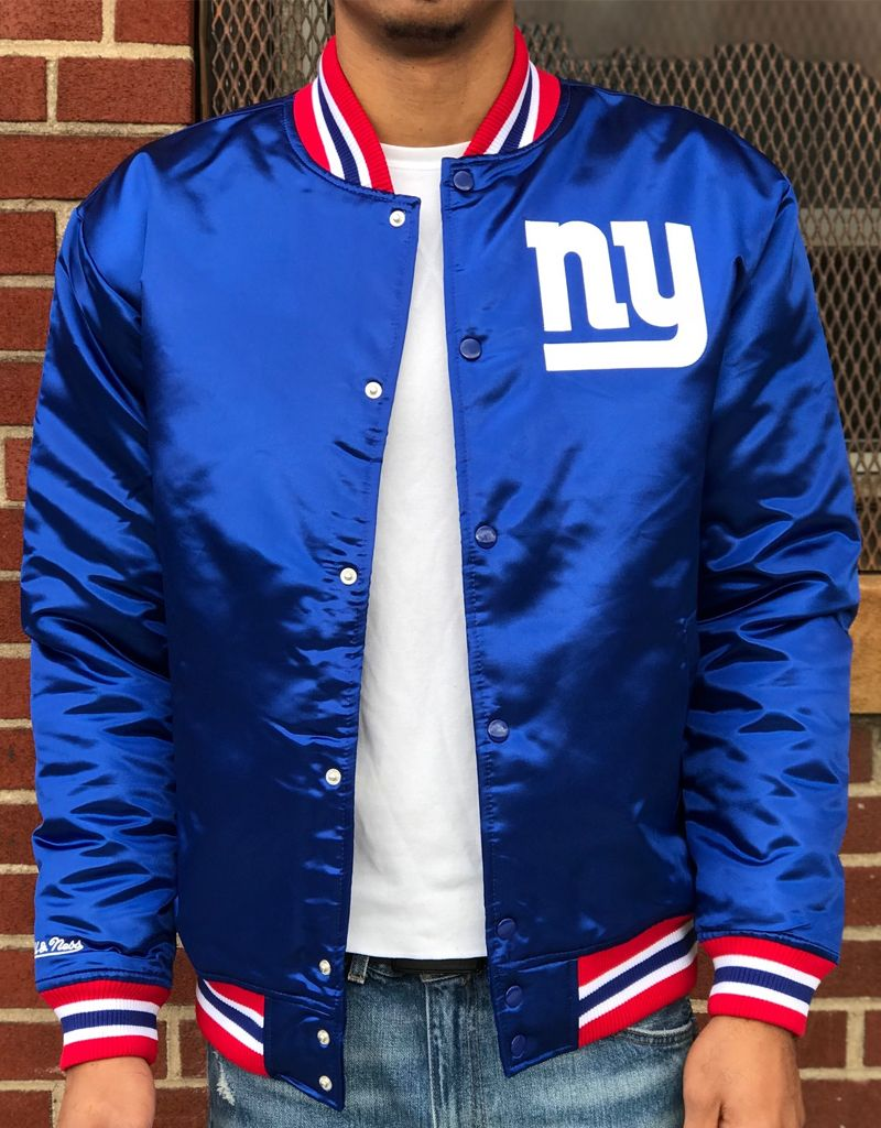online store bc1bf 68d97 NEW YORK GIANTS SATIN JACKET