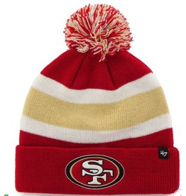 47 BRAND SAN FRANCISCO 49ERS BREAKAWAY CUFF KNIT