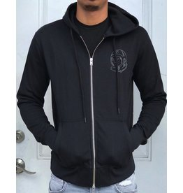 BILLIONAIRE BOYS CLUB BLACK BB ZIP HOODIE
