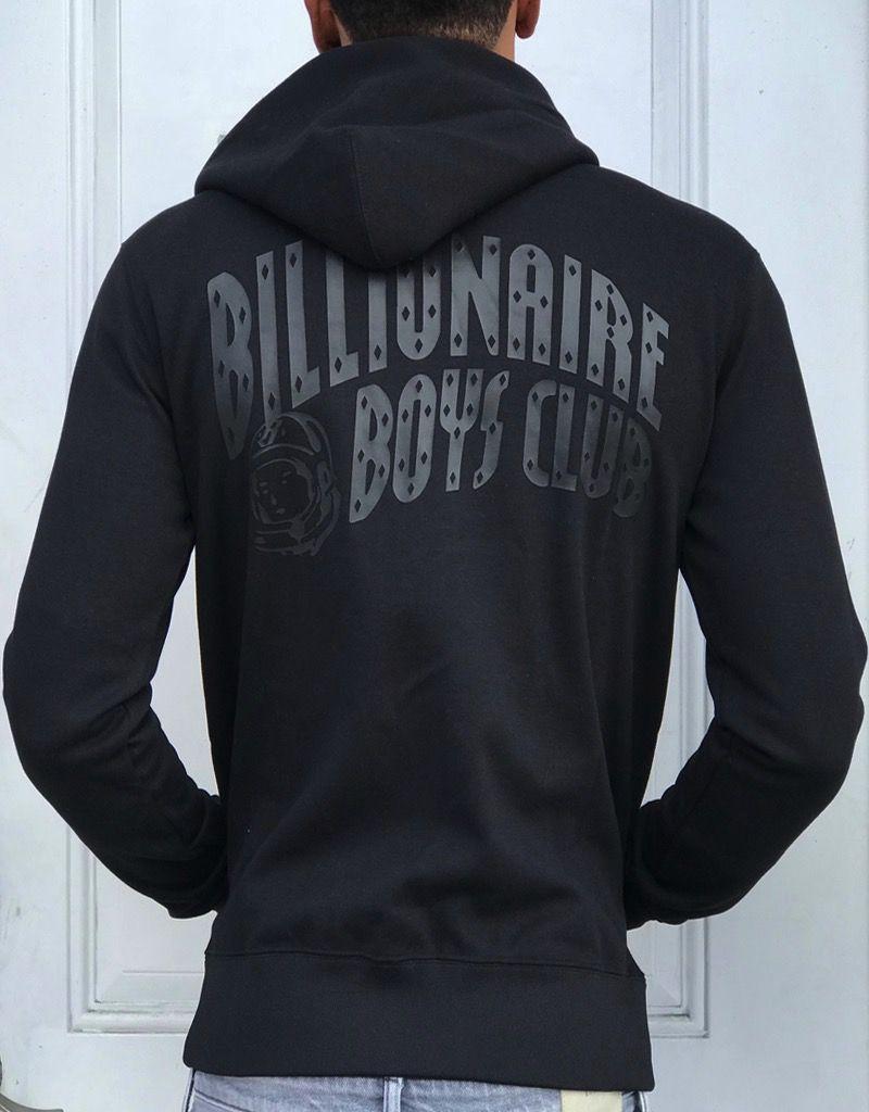 BILLIONAIRE BOYS CLUB BLACK BB ZIP HOODIE