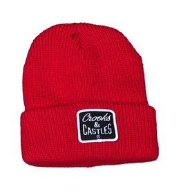 CROOKS & CASTLES REVERSE CORE PATCH BEANIE