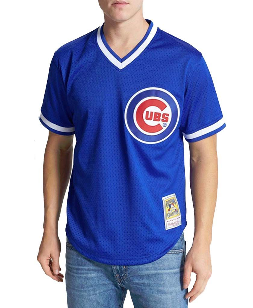 info for 188d0 7f89c CHICAGO CUBS RYNE SANDBERG 1984 AUTHENTIC MESH BP JERSEY