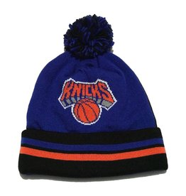 Mitchell & Ness NEW YORK KNICKS 2 FACE KNIT WITH POM