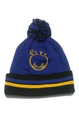 Mitchell & Ness SAN FRANCISCO WARRIORS 2 FACE KNIT WITH POM