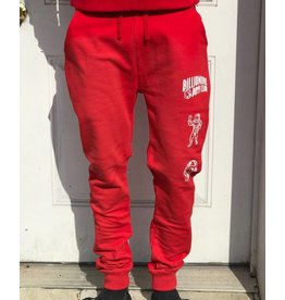 BILLIONAIRE BOYS CLUB RACING RED BB DOUBLE ARCH JOGGER