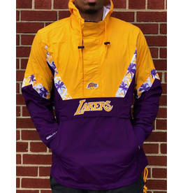 Mitchell & Ness LOS ANGELES LAKERS HALF ZIP ANORAK