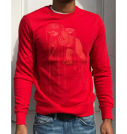 PRPS Red Paint Drip Cherub Pullover