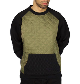 MOSTLY HEARD RARELY SEEN QUILTED RAGLAN CREWNECK