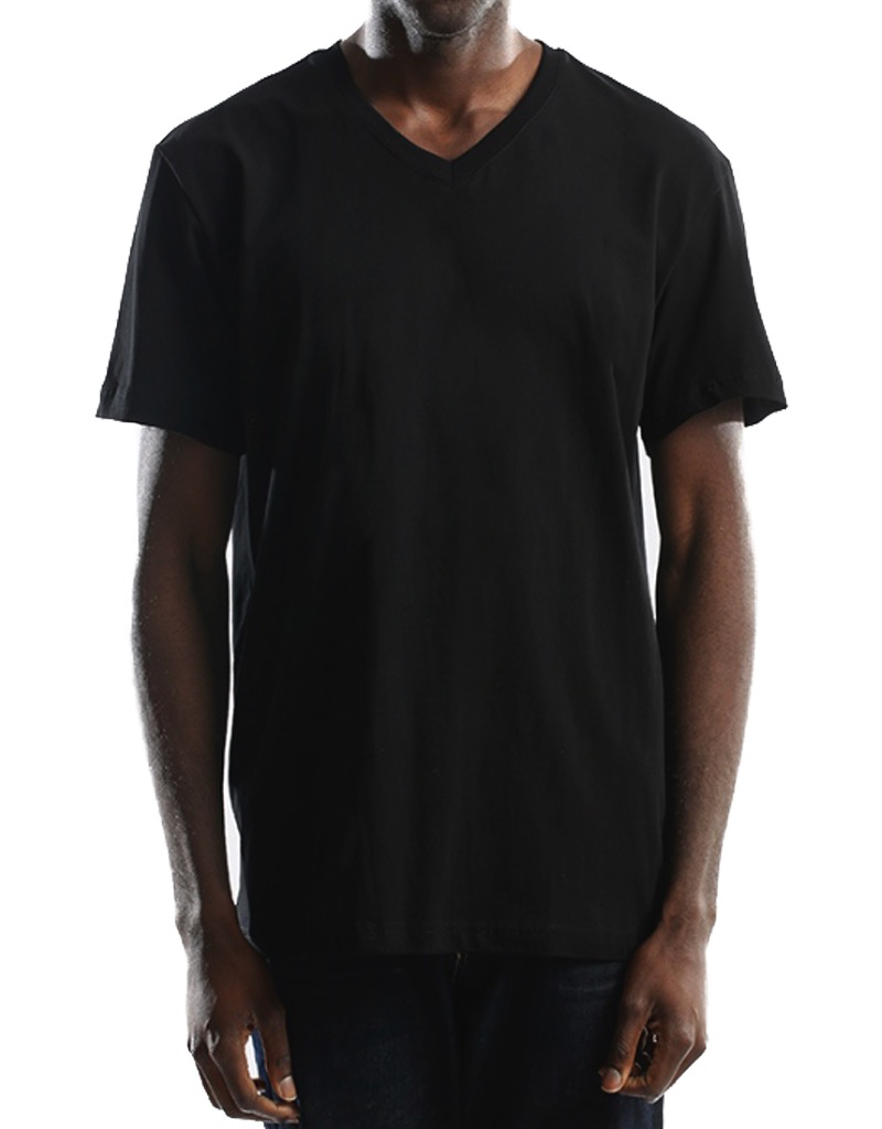 CITY LAB BLACK PREMIUM V NECK T SHIRT
