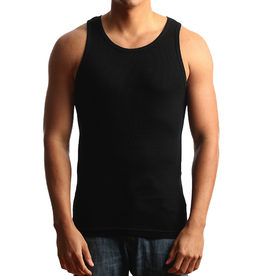 CITY LAB BLACK RIBBED TANK TOP