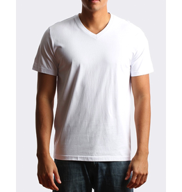 CITY LAB WHITE PREMIUM V NECK T SHIRT