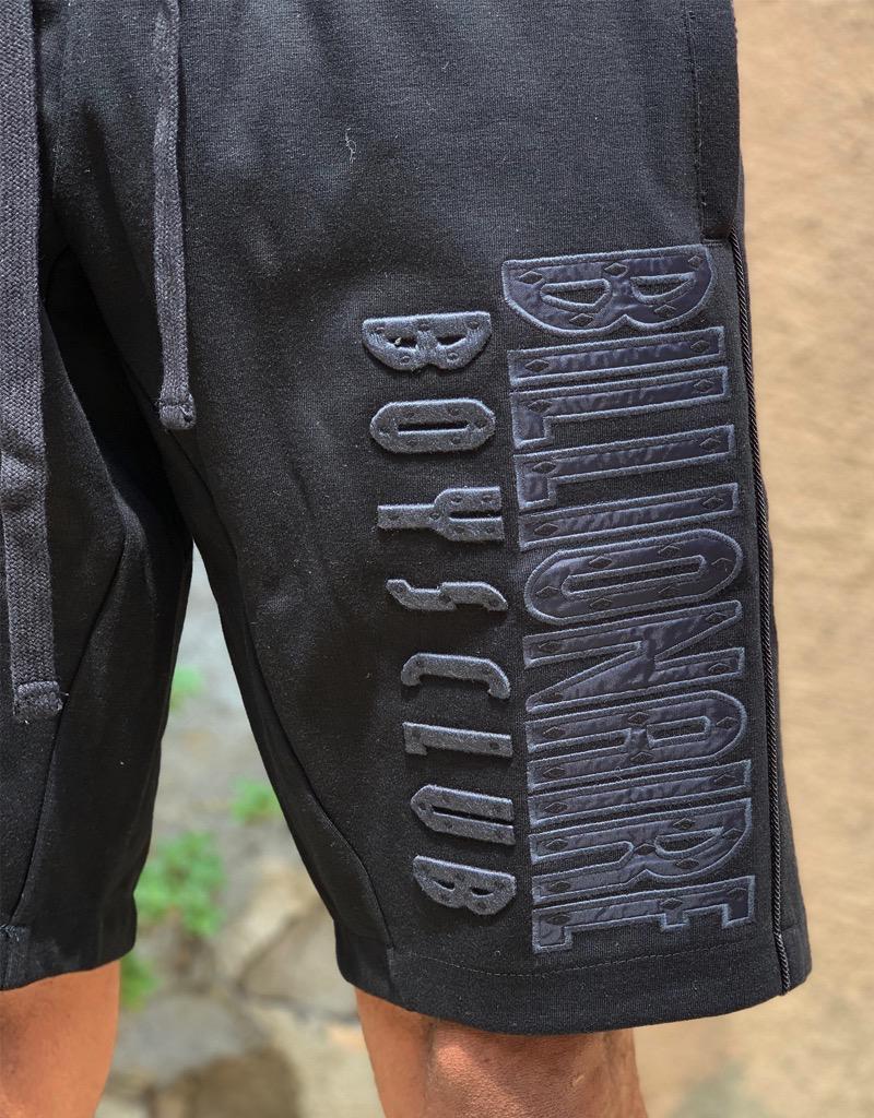 BILLIONAIRE BOYS CLUB BLACK BB STRAIGHT FONT SHORT