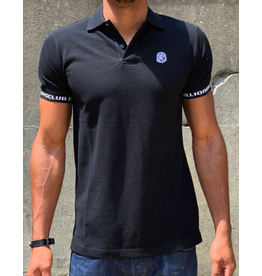 BILLIONAIRE BOYS CLUB BLACK BB COCKPIT SS POLO