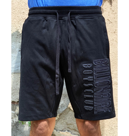 BILLIONAIRE BOYS CLUB BLACK BB STRAIGHT FONT SHORT
