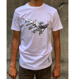 PAPER PLANES WHITE CRYSTAL CLEAR TEE