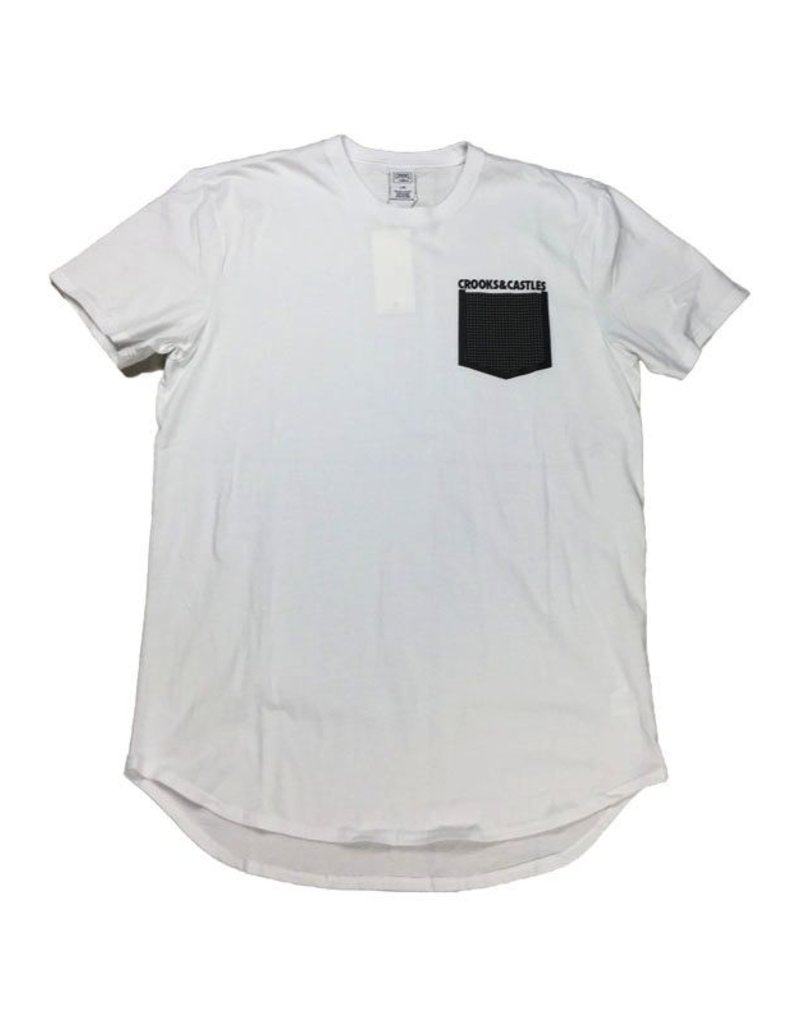 CROOKS & CASTLES WHITE STONEWALL POCKET TEE