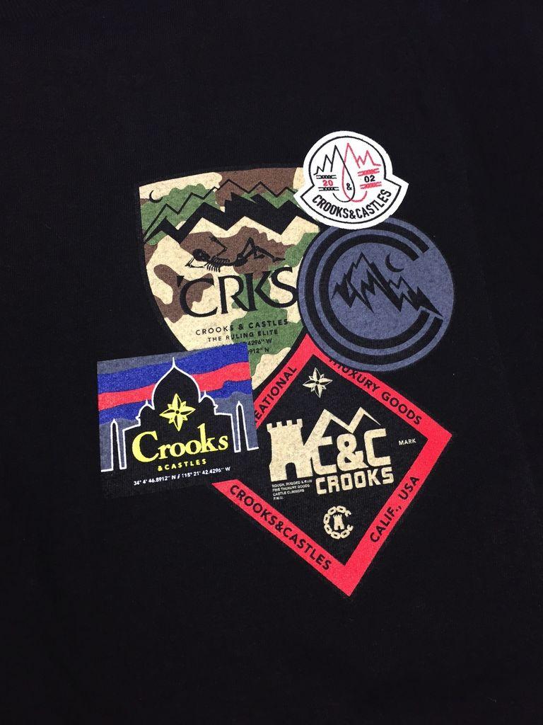 CROOKS & CASTLES DECORATED TEE BLACK