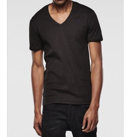 G STAR BLACK BASE HTR VNECK TEE