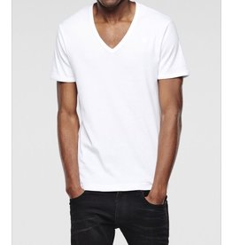 G STAR WHITE BASE HTR VNECK TEE