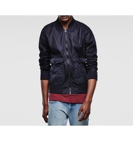G STAR A CROTCH INDIGO BOMBER JACKET
