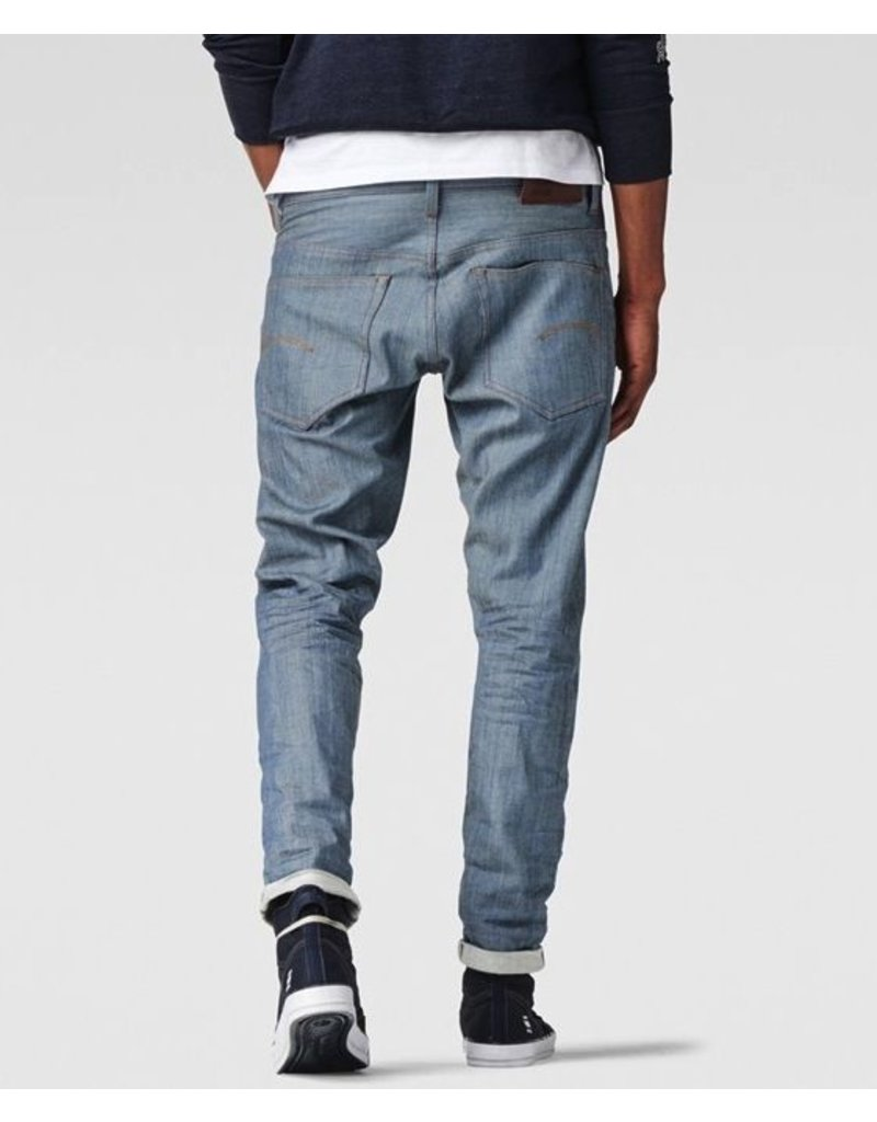 G STAR 3301 TAPERED RED LISTING JEANS