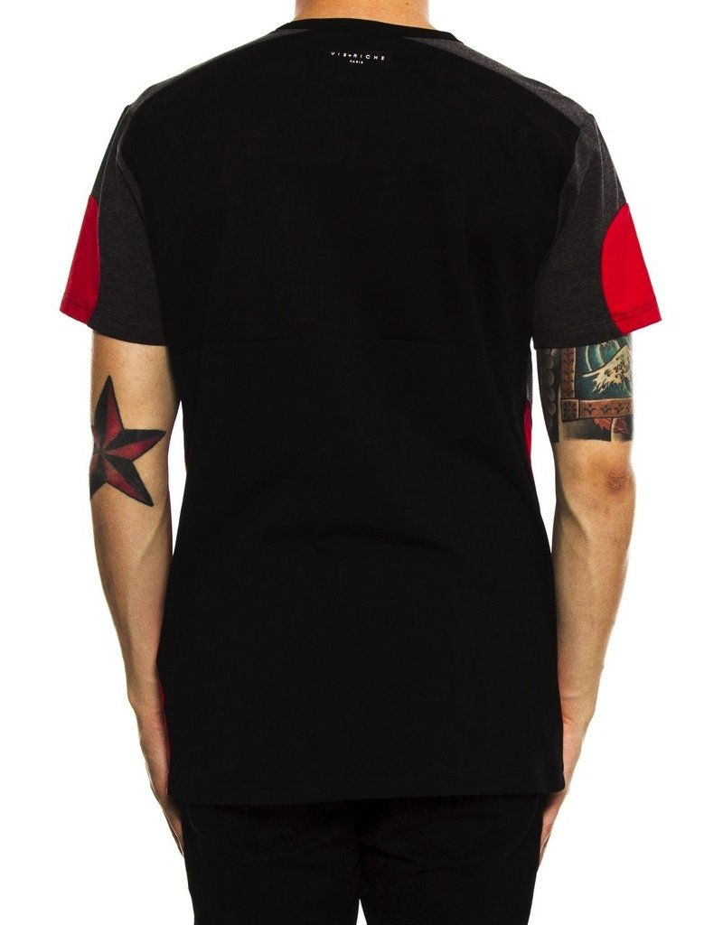 Vie + Riche BLACK VR PARIS FUTURE PANEL TEE